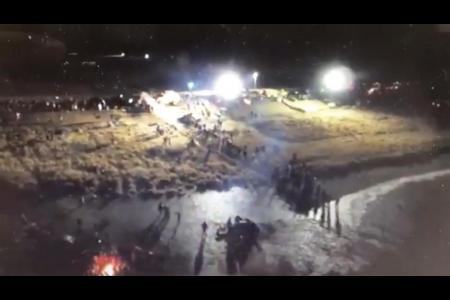 Digital Smoke Signals: Aerial Footage from the Night of November 20, 2016 at Standing Rock
